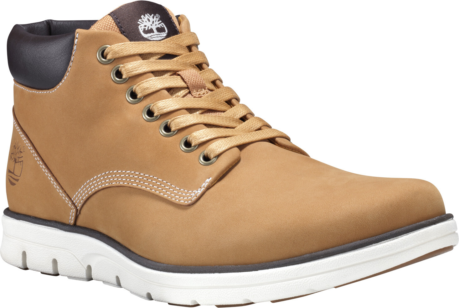 Timberland Bradstreet Chaussures en cuir Chukka Homme, wheat nubuck
